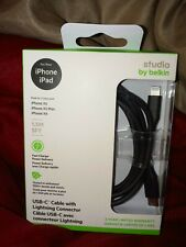Belkin USB-C 5' Cable with Lightning Connector Black for iPhone iPad New Sealed