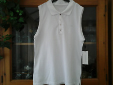 WOMENS CALVIN KLEIN  PERFORMANCE WHITE TOP SIZE LARGE (NEW)