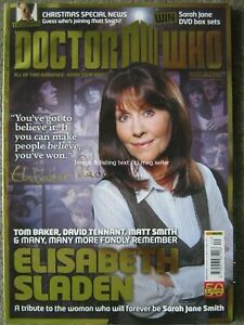 Dr Doctor Who magazine issue 440 16 November 2011 Elisabeth Sladen David Tennant