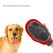 Bath Brush Groom Glove Dog Cat fur Grooming Pet wash tool double-face Massage