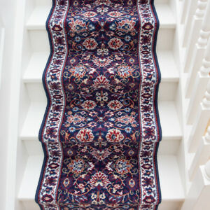 Traditional Dark Blue Long Hall Stair Carpet Hallway Stair Runners Sold in Feet