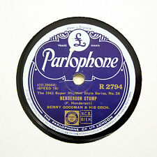 "BENNY GOODMAN & HIS ORCHESTRA ""Henderson Stomp"" PARLOPHONE R-2794 [78 RPM]"