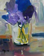JOSE TRUJILLO Still Life Impressionism Blue Flowers Purple Violet Colors MODERN
