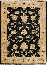 Black good Quality Handmade Oriental Chobi Rugs, Rug mat,  3''x2' ft/88x60cm
