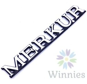 85 86 87 88 89 Merkur XR4Ti Rear Hatch Emblem Nameplate Metal Badge OEM Trunk
