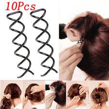 Hair Band Clip Braider Twist Barrette Spiral Spin Screw Bobby Hair Pin 10PCs New
