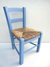 sedia seggiolina sediolina impagliata azzurro festa bimbo bambino ristorante