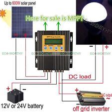 ECO-WORTHY 20A 12V/24V MPPT solar charge controller WithTimer And Light sensor