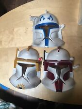 2008 SDCC Star Wars Clone Wars Masks Commander Rex Bly Thire Lot Red Blue Yellow