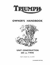 Triumph Owners Manual Book 1967 TR6 Tiger & T120 Bonneville