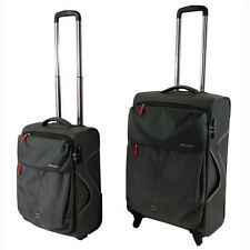 New 2 Pc Luggage Suitcase 4 Wheels Travel Cabin Size Bag Set Light Weight Grey