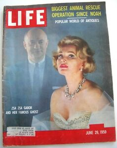 LIFE Magazine Zsa Zsa Gabor And Her Famous Ghost June 29th 1959 John Wayne