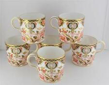 c1984 Royal Crown Derby Coffee Can Set of 6 Demitasse Cups Kings Blue Rust Gold