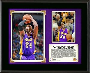 """Kobe Bryant Los Angeles Lakers Third All-Time Scoring 10.5"""" x 13"""" Plaque"""
