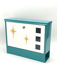 "ORIGINAL ""Atomic Avocado Designs"" Mid Century Modern Stylized Mailbox"