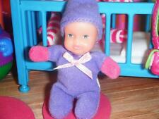 Miniature Dollhouse Beanie Baby Doll Purple fits Fisher Price Loving Family Doll