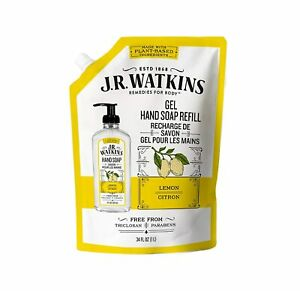 J.R. Watkins Liquid Hand Soap Lemon 34 oz Refill - New & Sealed
