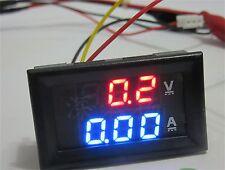 DC 100V 10A Voltmeter Ammeter Blue Red LED Amp Dual Digital Volt Meter Gauge