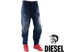 DIESEL TRUCKTER 0835J W32 L32 Mens Denim Jeans Comfort Fit Carrot Leg