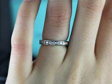 $4,875 Tiffany Platinum Diamond 3mm Eternity Wedding Band Anniversary Ring Sz 5