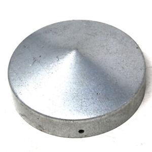 "4"" (100mm) ROUND GALVANISED STEEL FENCE POST CAP - HEAVY DUTY PREMIUM QUALITY"