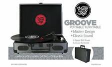 Vinyl Styl Groove Portable 3 Speed Portable Turntable (Sw-196B Graphite)