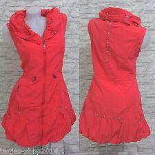 NEU Kleid Lange Weste Tunika Longshirt GLAMZ FRANSTYLE Koralle Gr 50 (T186)