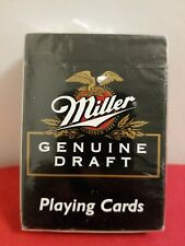 Miller Genuine Draft Collector Playing Cards Poker Size Sealed New