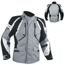 Biker Motorcycle Waterproof CE Armored Textile Touring Jacket Cordura Black