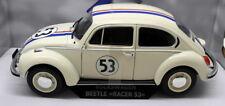 Solido 1/18 Scale Diecast - S1800505 VW Beetle Race #53 Herbie White Model Car