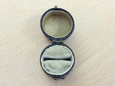 ANTIQUE LEATHER RING JEWELLERY JEWELRY BOX 1860