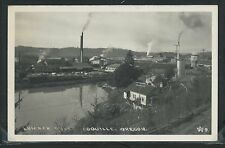 OR Coquille RPPC 1940's LUMBER MILL & COQUILLE RIVER by Wesley Andrews No.9