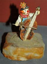 Authentic Collectible Ron Lee Signed 1987 Clown With Cello Figurine Dh