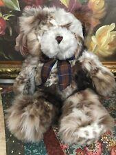 Faux Fur Patchwork Teddy Bear 17 inch Standen House Gift Shop Toronto RARE Bear