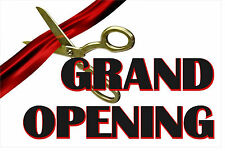 """Grand Opening Advertising Banner Sign 24""""X 36"""" Vinyl Business Ribbon Cutting Sci"""