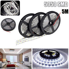 LED Strip 300 LED 5050 SMD 5M White Tape Flexible Xmas Light 12V Non-Waterproof