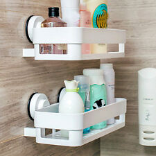 Corner Shelf With Suction Shower Rack Organizer Cup Bathroom Storage Wall Basket