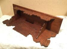 New ListingAntique Vintage 24� Hand Made Oak Wood Wall Shelf Clock Mantle