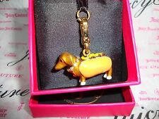 New Juicy Couture Dachshund In A Hot Dog Bun Charm