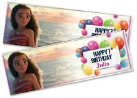 Details about  /x2 Personalised Birthday Banner Children Kids Party Decoration 18