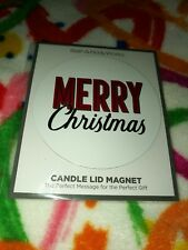 Bath Body Works MERRY CHRISTMAS CANDLE MAGNET TOPPER for your 3 WICK Candle NIP