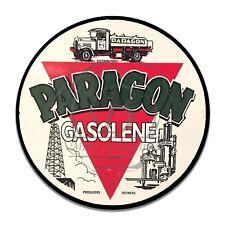 Paragon Gasolene Gasoline Motor Oils Reproduction Circle Aluminum Sign