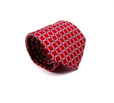 Boys Chaps Silk Tie Red With Blue And White Squares Necktie 50 x 3 New