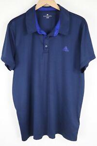 adidas Golf Mens sz XXL Navy Blue ClimaLite Polo Shirt