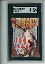 1996-97 Skybox E-X 2000 Michael Jordan #8 Net Assets Die Cut SGC 7.5 HOF Bulls