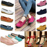 Women Casual Flat Flats Boat Shoes Suede Moccasins Ballet Slip On Loafers Single