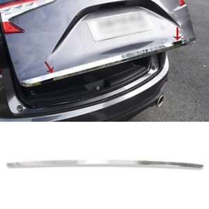 Chrome Steel Tail Door Trunk Lid Strip Cover Trim 1pcs For Acura RDX 2019-2021