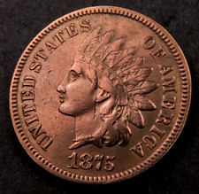 1875 Indian Head Penny Cent // Uncirculated (red) // (I323)