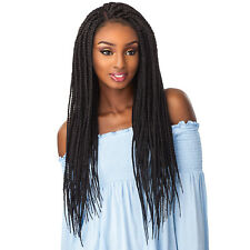 SENSATIONNEL SYNTHETIC CLOUD 9 4X4 PART SWISS LACE FRONT WIG - BOX BRAID LARGE