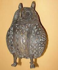 African Bronze Owl Strig Tuto Bird Goldweight Akan Ashanti Burkina Gan Baule Dan